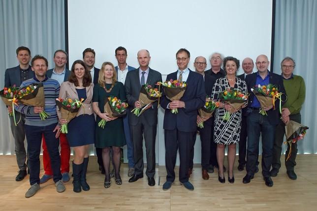 Oud en nieuw H-team met minister Blok.