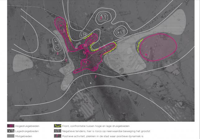 Groninger weerkaart: welke gebieden in de stad lenen zich voor transformatie? (atelier Stadsbouwmeester ism Studio Marcha)
